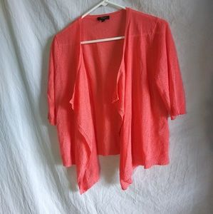 Cupio bright orange open cardigan sz Large